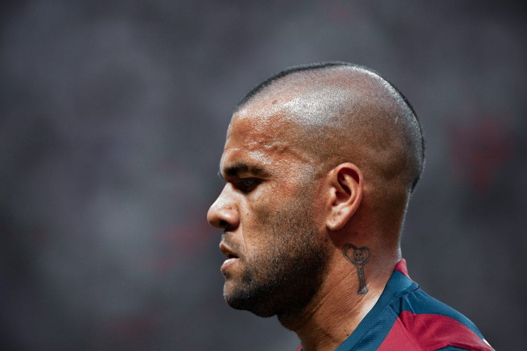 Dani Alves Barcelona full-back