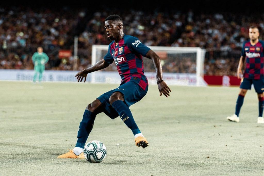 Ousmane Dembélé Champions League Barça