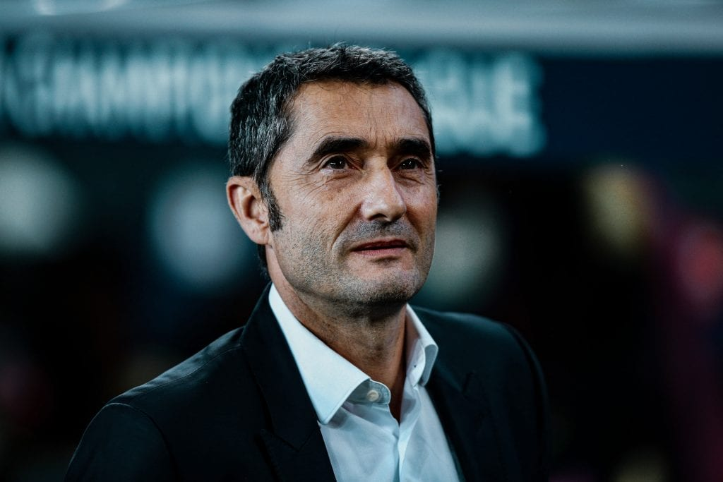 Ernesto Valverde Barcelona defence Johan Cruyff