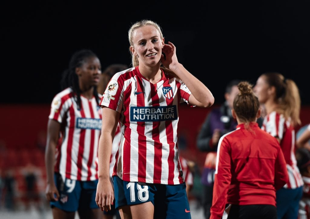 Toni Duggan Atlético de Madrid Women's Champions League favourites