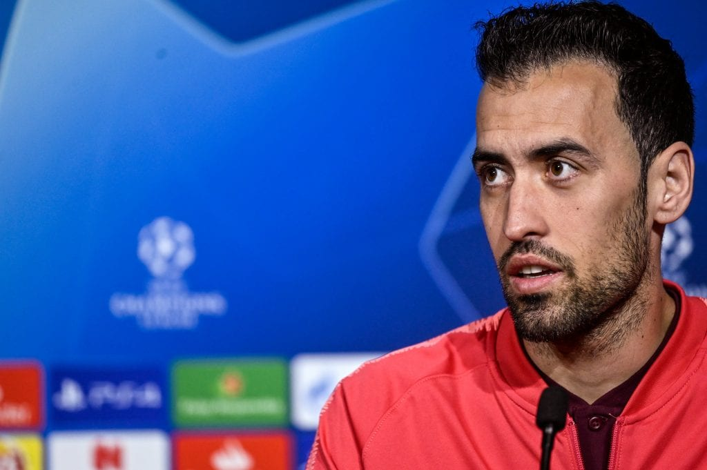 Busquets press conference Napoli