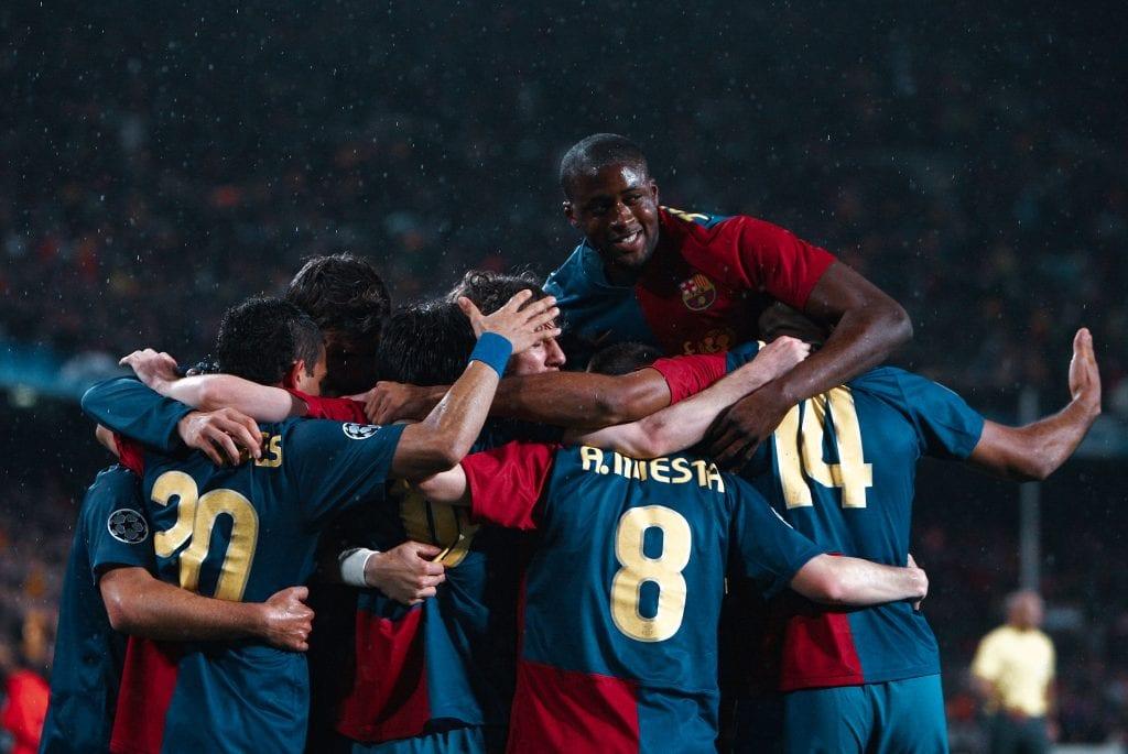 Dani Alves Andrés Iniesta Touré Yaya Thierry Henry Barcelona 4–0 Bayern 2009
