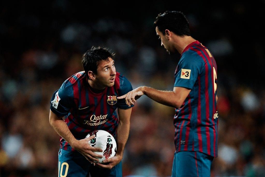 Lionel Messi Xavi Hernández Barcelona 5–0 Napoli Trofeu Joan Gamper