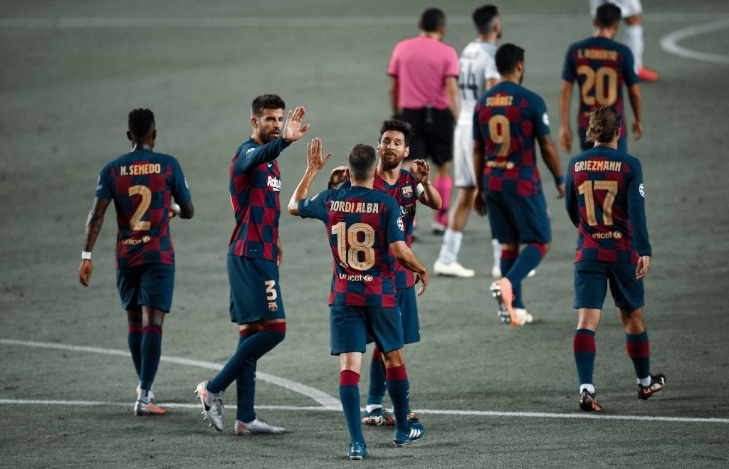 Lionel Messi Jordi Alba Barça Bayern Champions League