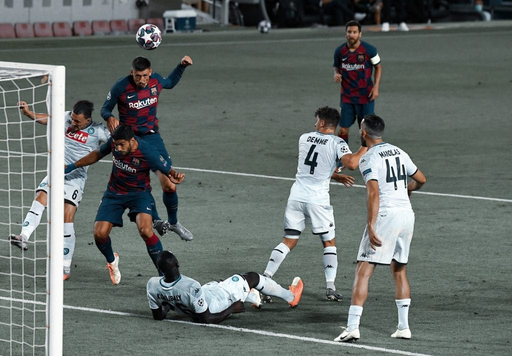 Clément Lenglet Barcelona Napoli takes