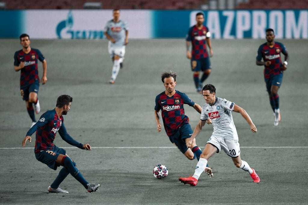Gerard Piqué Iván Rakitić Barcelona Napoli game