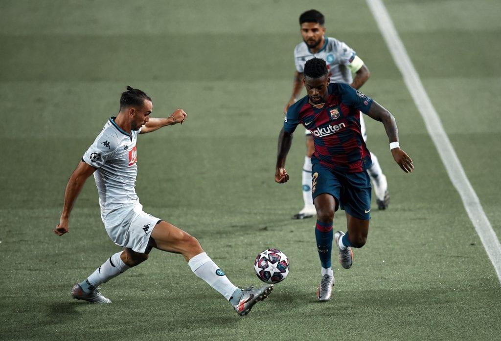 Nélson Semedo Barcelona Napoli player ratings