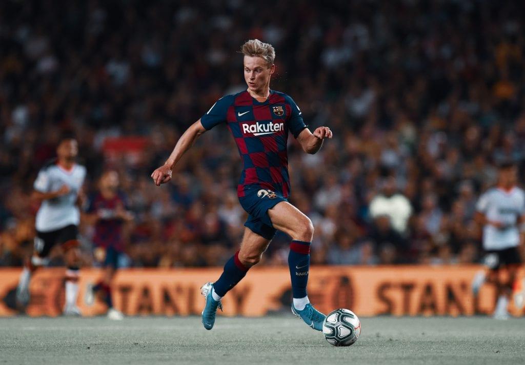 Frenkie de Jong Barcelona Bayern line-up