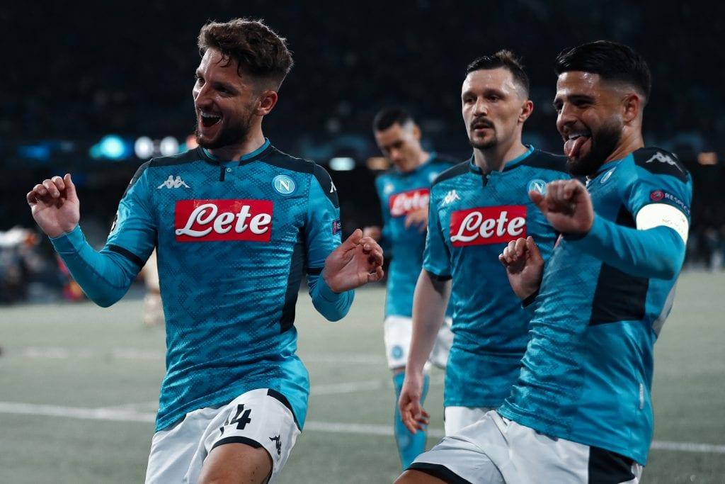 Dries Mertens Lorenzo Insigne Napoli Barcelona first leg
